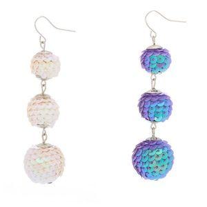 🆕Iridescent Sequin Ball Drop Earrings